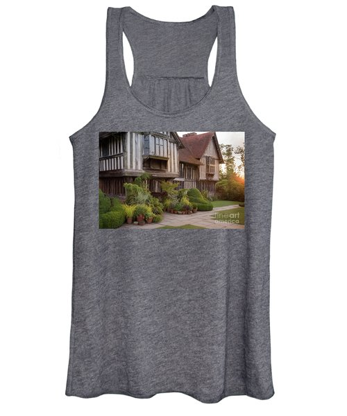 Women's Tank Top featuring the photograph Sunset At Great Dixter House And Gardens by Perry Rodriguez