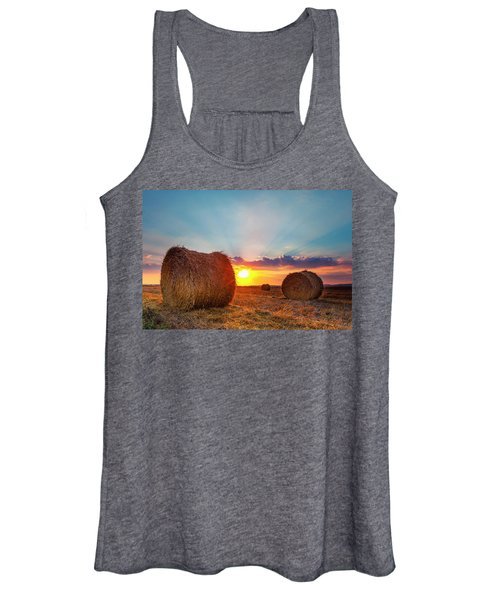Sunset Bales Women's Tank Top