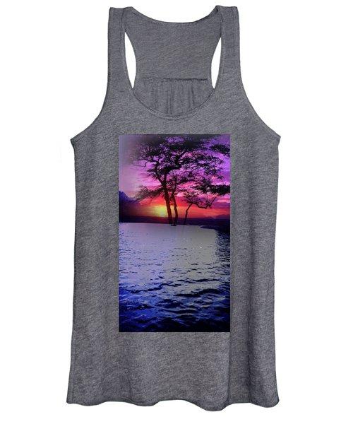 Sunset By Lake. Women's Tank Top
