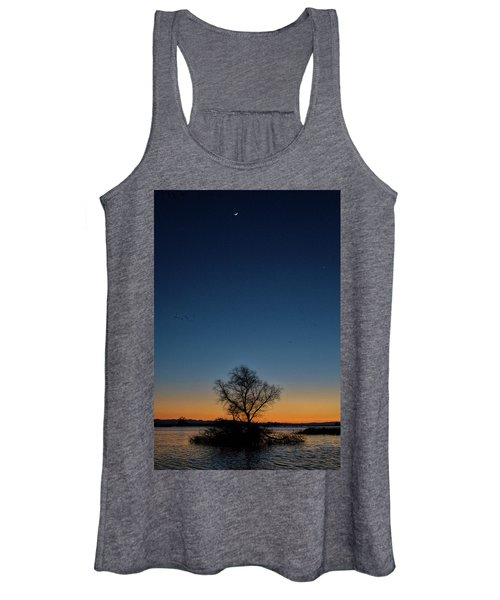 Sunset In The Refuge With Moon Women's Tank Top