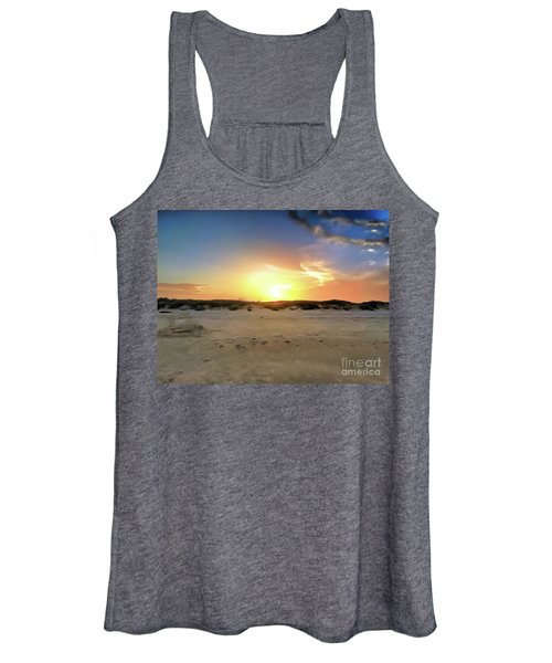 Sunset Over N Padre Island Beach Women's Tank Top