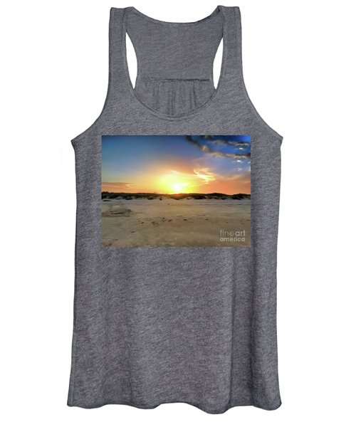 Sunset Over N Padre Island Beach Women's Tank Top