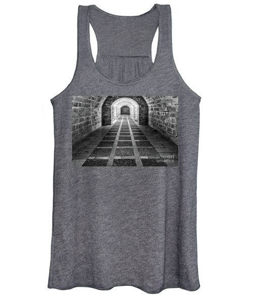 Symmetry In Black And White Women's Tank Top