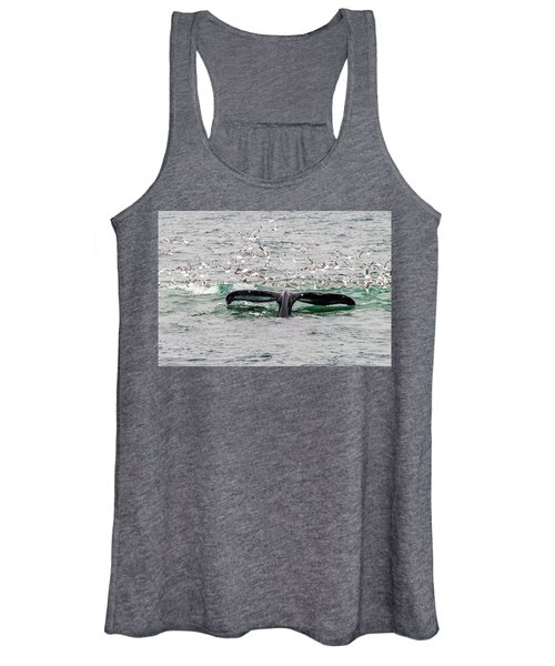 Women's Tank Top featuring the photograph Tail Of A Whale by Marla Craven