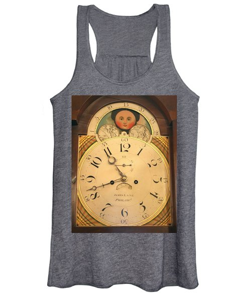 Tall Case Clock Face, Around 1816 Women's Tank Top