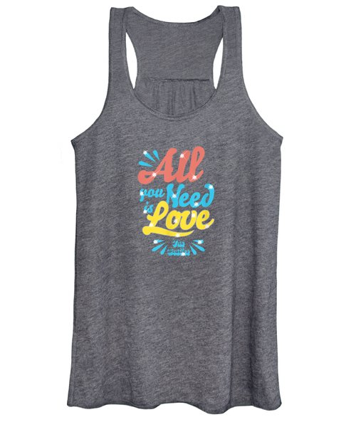 The Beatles All You Need Is Love T-shirt Women's Tank Top