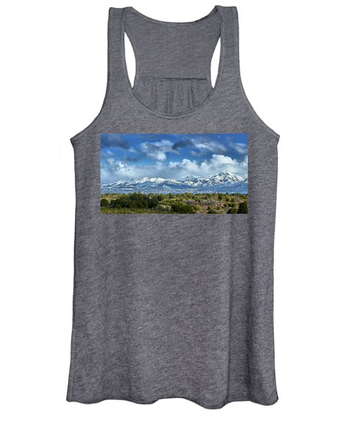 The City Of Bariloche And Landscape Of Snowy Mountains In The Argentine Patagonia Women's Tank Top