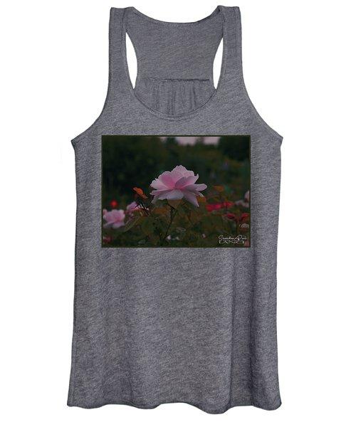 The Glowing Rose Women's Tank Top