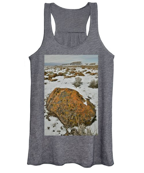 The Lichen Covered Boulders Of The Book Cliffs Women's Tank Top