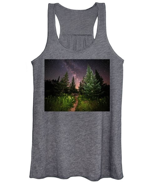 The Path To The Milky Way In Albany New Hampshire Women's Tank Top