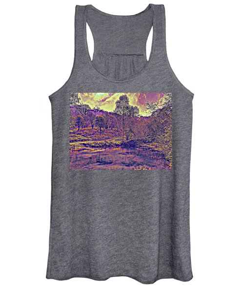 The  Pond  At  Twilight Women's Tank Top