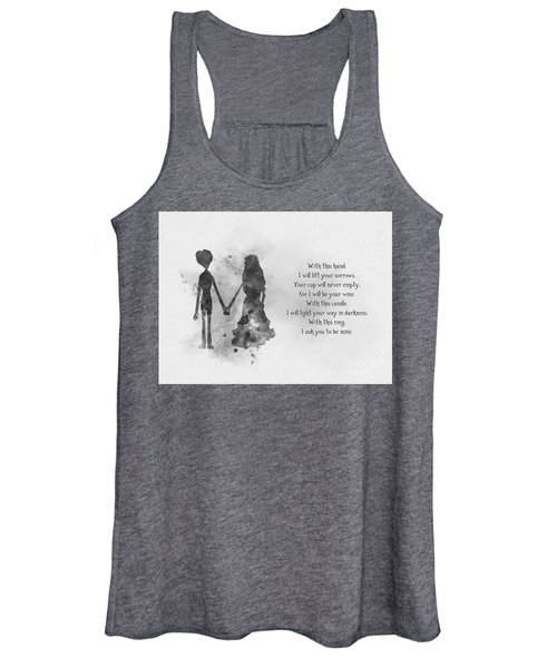 The Wedding Vows Black And White Women's Tank Top