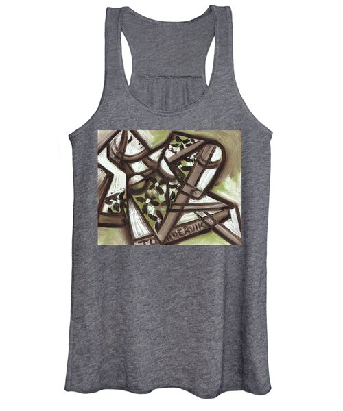 Tommervik Cubist Hawaiian Woman Art Print Women's Tank Top