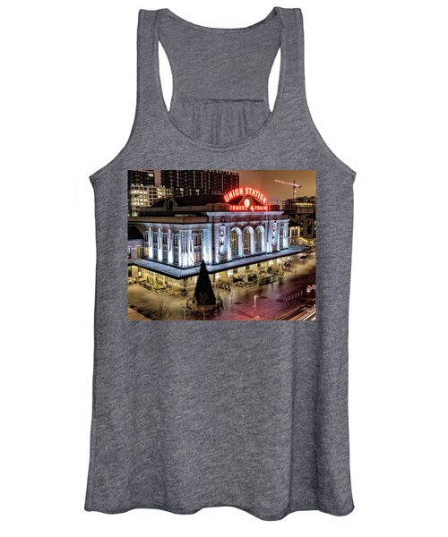 Travel By Train - Denver Union Station Women's Tank Top
