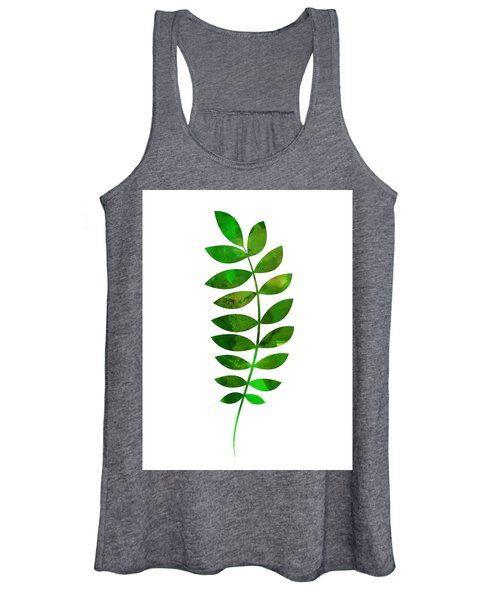 Tropical Zamioculcas Leaf  Women's Tank Top