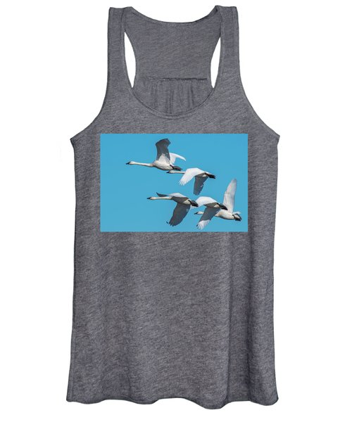 Tundra Swans In Flight Women's Tank Top
