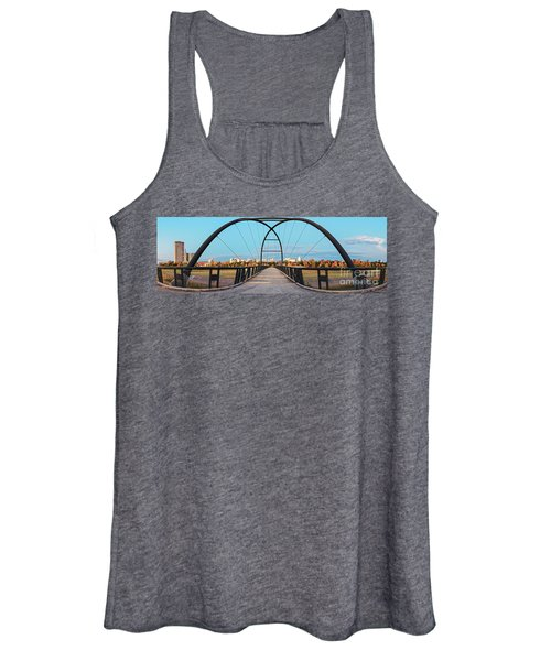 Twilight Panorama Of Bill Coats Bridge Over Brays Bayou - City Of Houston Texas Medical Center Women's Tank Top