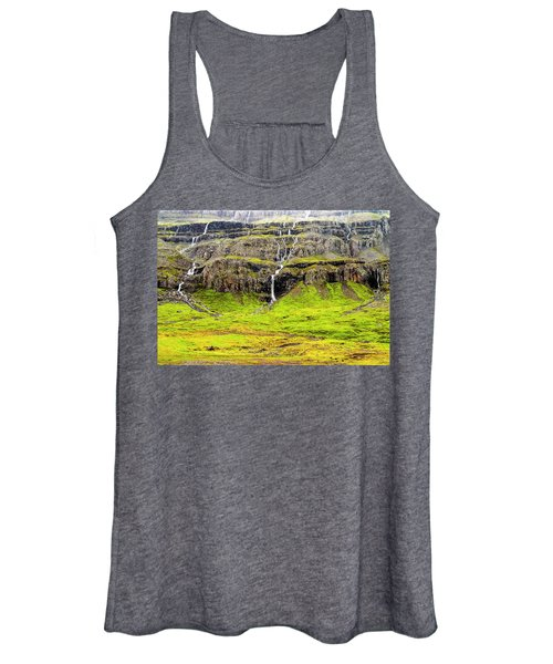 Women's Tank Top featuring the photograph Valley Cascades - Iceland by Marla Craven