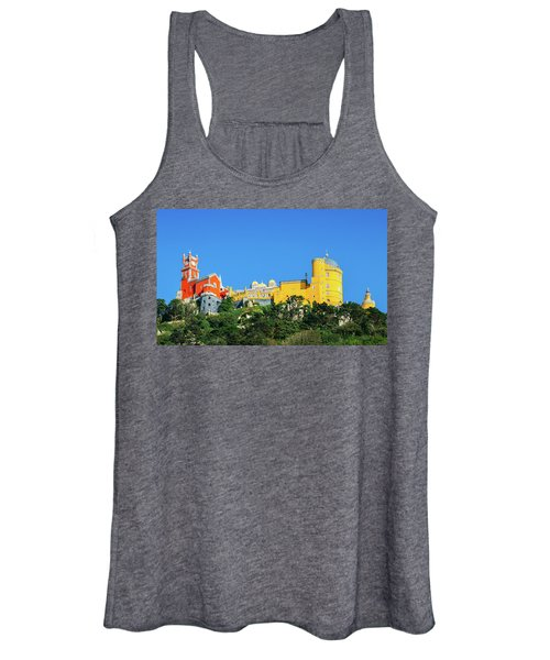 View Of Pena National Palace, Sintra, Portugal, Europe Women's Tank Top