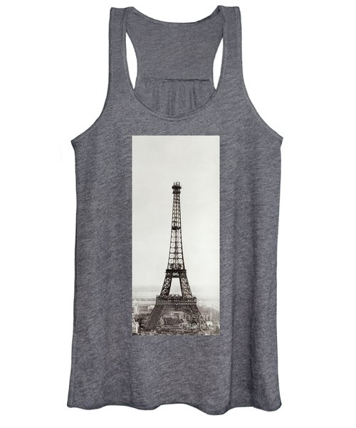View Of The Construction Of The Eiffel Tower, Paris, 12th February And 12th March 1889 Women's Tank Top