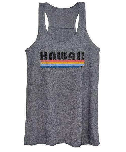 Vintage 1980s Style Hawaii T Shirt Women's Tank Top