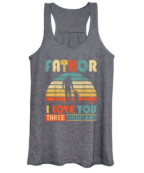 Vintage Intro Fa-thor I Love You T-shirt Happy Fathers Day Women's Tank Top
