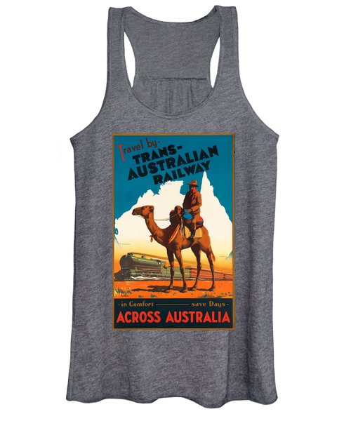 Vintage Travel Poster - Australia Women's Tank Top