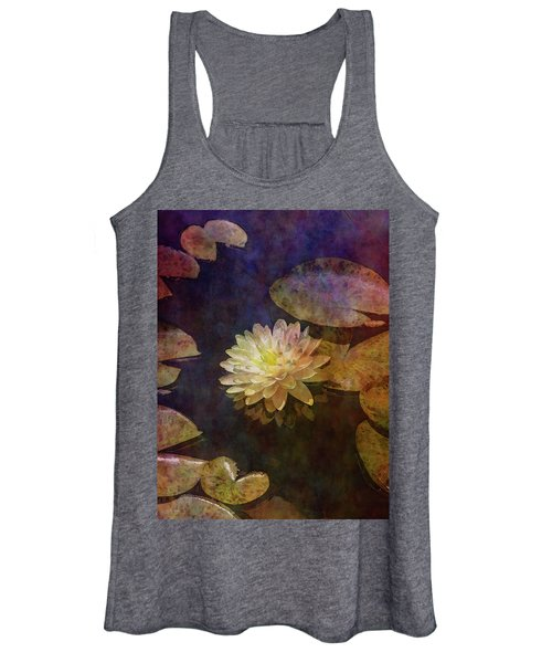 White Lotus Lily Pond 2938 Idp_2 Women's Tank Top