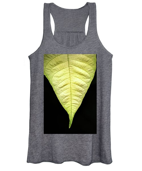 White Poinsettia Leaf Women's Tank Top