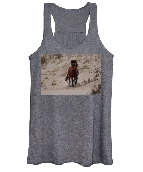 Women's Tank Top featuring the photograph Wild Pony by Pete Federico
