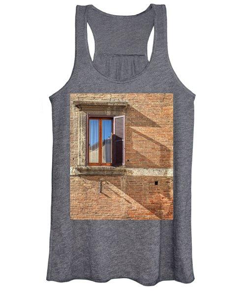 Window Shutter Shadow Of Tuscany Women's Tank Top