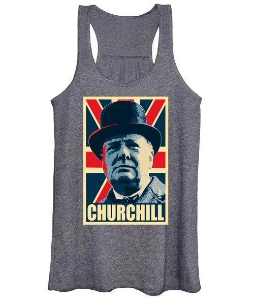 Winston Churchill Propaganda Women's Tank Top