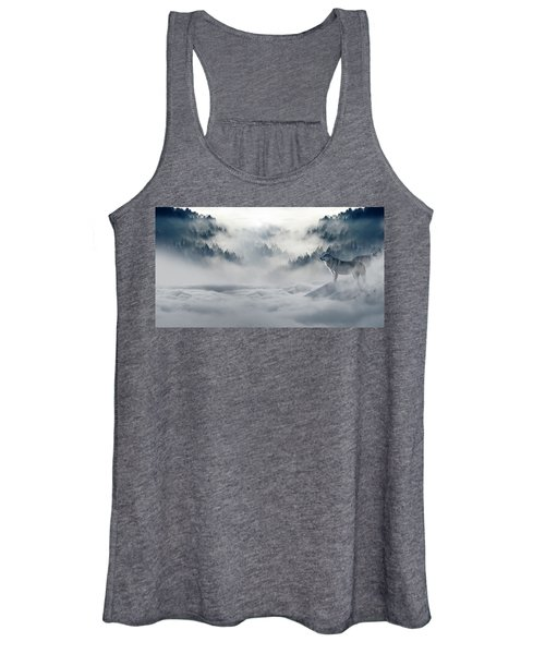 Wolfs In The Snow Women's Tank Top