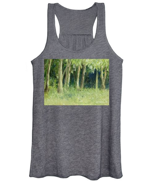 Woodland Tree Line Women's Tank Top