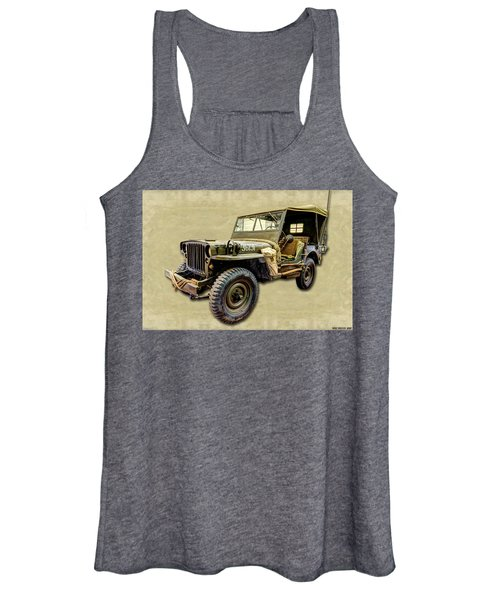Ww2 Jeep 2 Women's Tank Top