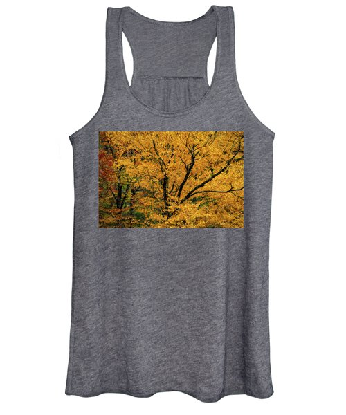 Yellow Tree Leaf Brilliance  Women's Tank Top