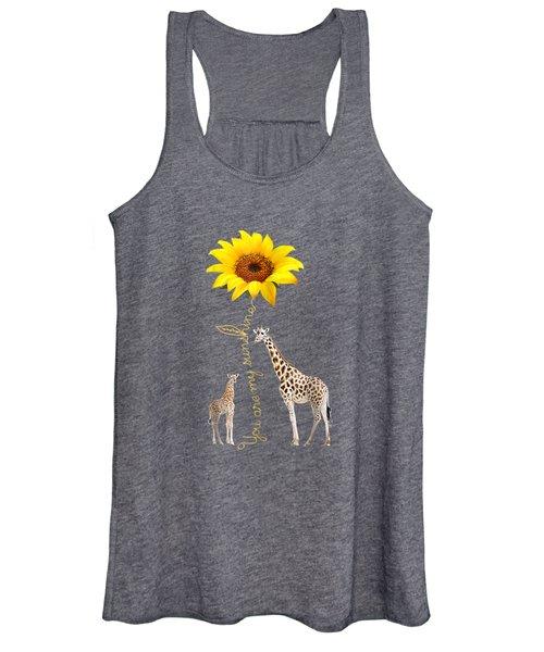 You Are My Sunshine Giraffe Shirt Women's Tank Top