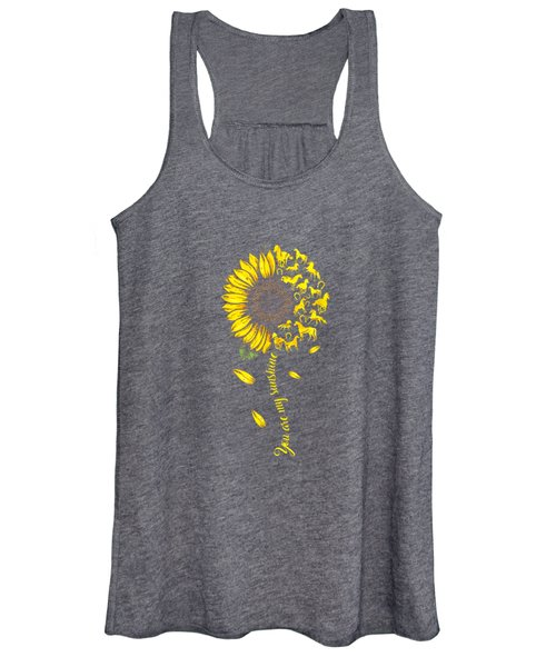 You Are My Sunshine Sunflower Horse T-shirt For Men Woman Women's Tank Top