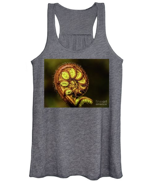 Young Fern Leaves Women's Tank Top