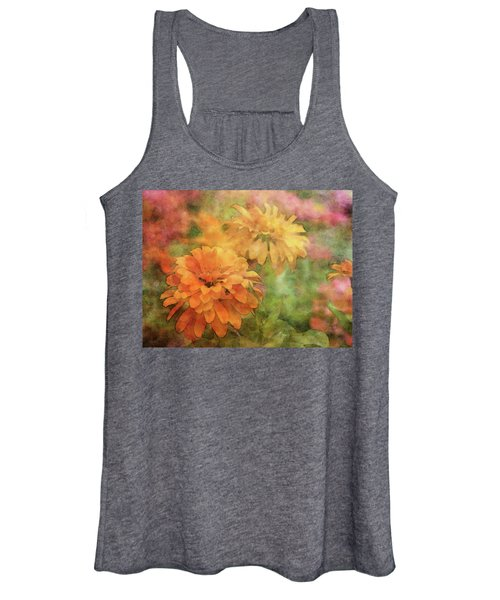 Zinnias 3063 Idp_2 Women's Tank Top