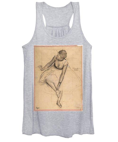 Dancer Adjusting Her Slipper Women's Tank Top