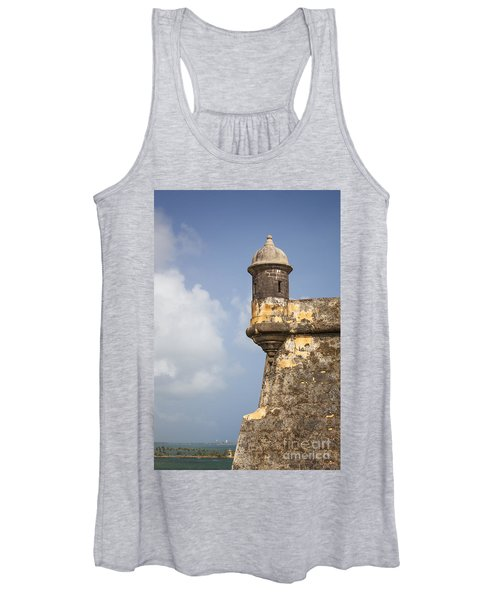 Fortified Walls And Sentry Box Of Fort San Felipe Del Morro Women's Tank Top