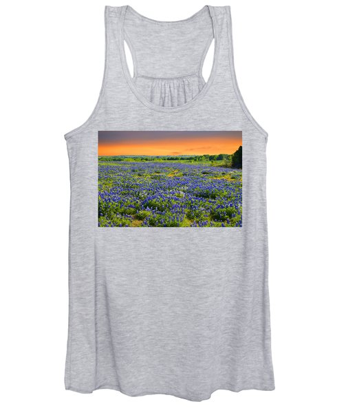 Bluebonnet Sunset  Women's Tank Top