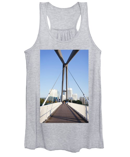 Bridge With Neuer Zollhof Buildings Women's Tank Top