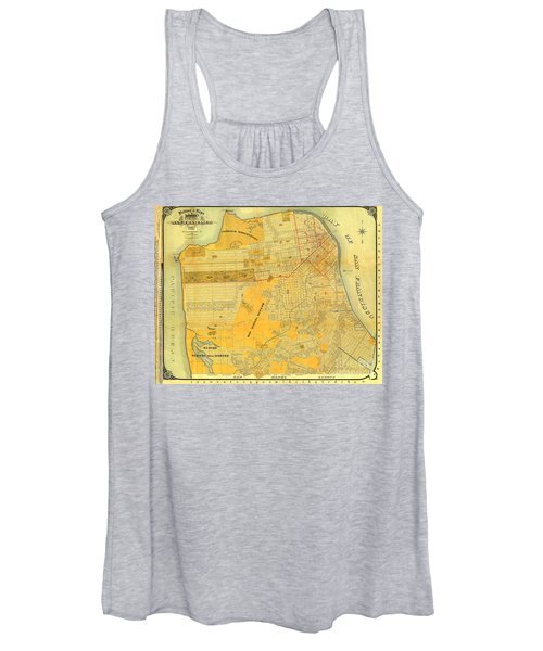 Britton And Reys Guide Map Of The City Of San Francisco. 1887. Women's Tank Top