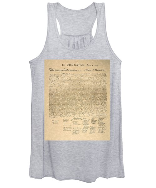 Declaration Of Independence Women's Tank Top