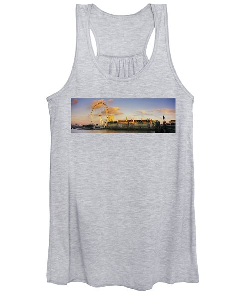 Ferris Wheel With Buildings Women's Tank Top