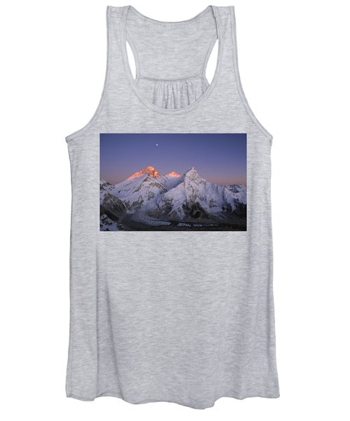Moon Over Mount Everest Summit Women's Tank Top