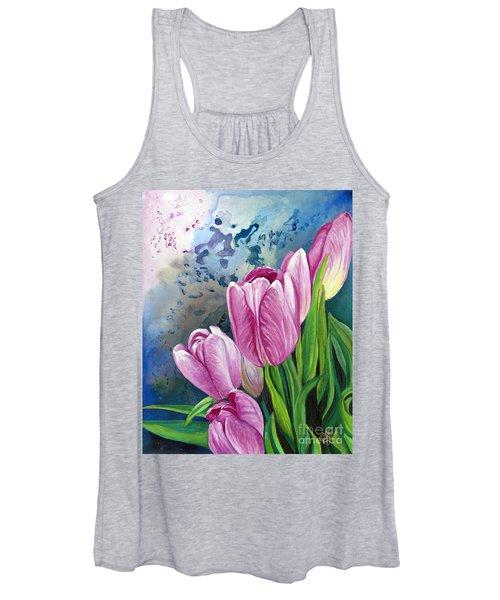 Pink Tulips  Women's Tank Top