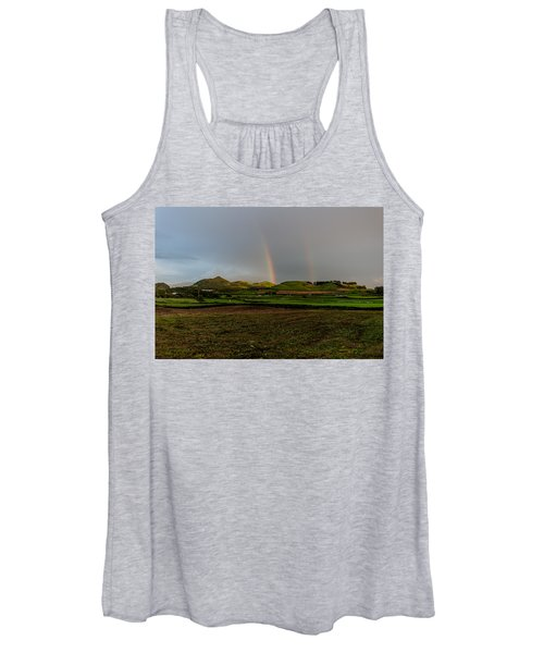 Rainbows Over The Mountain Women's Tank Top